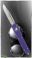 Microtech Ultratech S/E 121-10PU Stonewash Blade Purple Handle
