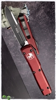 Microtech Ultratech S/E 121-1MR Black Blade Merlot Handle