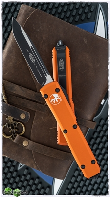 Microtech Ultratec S/E 121-1OR Black Blade Orange Handle