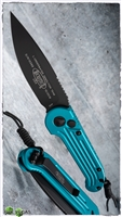 Microtech LUDT 135-1TQ Black Blade Turquoise Handle