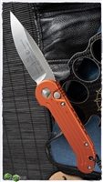 Microtech LUDT 135-4OR Satin Blade Orange Handle