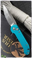 Microtech LUDT Auto 135-4TQ Satin Finish Turquoise Handle