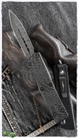 Microtech Troodon Signature Series 138-16CFS Damascus Ringed HW