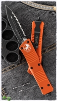 Microtech Combat Troodon D/E 142-3OR Black FS Blade Orange Handle