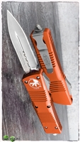 Microtech Combat Troodon D/E 142-4OR Satin  blade Orange Handle