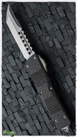 LTD Microtech Combat Troodon Hell Hound CF Top Stonewash Blade SN003
