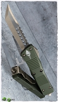 Microtech Troodon Hellhound 619-13OD Signature Series Bronze OD Handle