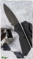 Protech Strider SnG Auto 2403-OP Sterile Operator Series All Black W/Tritium Button