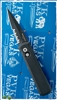Protech Godson Auto 721-PS Solid Black Handle Black Serrated Blade