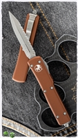 Microtech UTX-70 D/E 147-12APTA Full Serrated Apocalyptic Blade Tan Handle