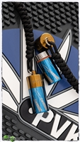 Blue Top With Bronze Bottom Anodized Titanium Lanyard Bead Capsule Academy