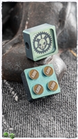PVK Custom Multi-Tone Green Anodized Titanium Lego Brick Bead