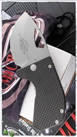 Microtech Option II Bead Blast Blade Carbon Fiber Scale Bead Blast hardware 07/2001 SN003