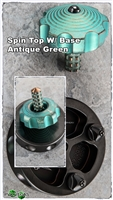 Marfione Custom Spin Top Antique Green w/ Base