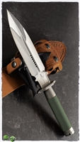 Marfione Custom Interceptor Dagger Mirror Polish Blade OD Green Wrap