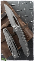 Marfione Custom Sigil AP TItanium Handle Damascus Backplate AP Blade