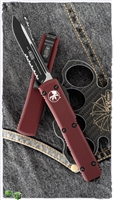 Microtech Ultratech D/A OTF S/E 121-2MR Black Serrated Blade Merlot Handle