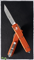 Microtech Ultratech T/E 123-5OR Serrated Satin Blade Orange Handle