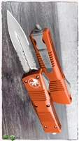 Microtech Combat Troodon D/E 142-5OR Satin Serrated blade Orange Handle