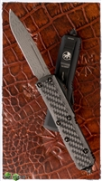 Microtech UTX-85 D/A OTF Auto 231-16CF Carbon Fiber Top Damascus Blade & Copper Hardware