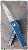 Microtech UTX-85 S/E 231-4BL Satin Blade Blue Handle