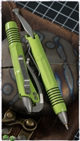 Microtech Siphon II Pen Lime Green - Silver hardware