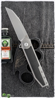 2 Saints Crow Reverse Tanto Folder, Titanium & Carbon Fiber Scales