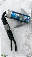 Flamed Titanium Pocket Grappling Hook w/ Damascus Bead
