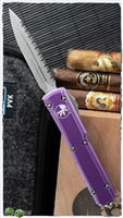 Microtech Ultratech D/E  122-12DPU Apocalyptic Full Serrated Distressed Purple