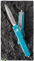Microtech Ultratech D/E  122-12DTQ Apocalyptic Full Serrated Distressed Turquoise