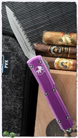 Microtech Ultratech D/E  122-12DVI Apocalyptic Full Serrated Distressed Violet
