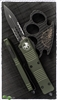 Microtech Combat Troodon D/A OTF 142-2OD D/E Green Handle Serrated Black Blade