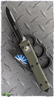 Microtech Ultratech D/A OTF S/E 121-1OD Green Handle Black Standard Blade