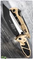 Microtech SOCOM Elite T/E-M 161-1CG Black Blade Champagne Gold Handle