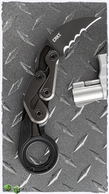 CRKT Provoke Kinematic Morphing Karambit Folding Knife Serrated