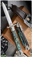 "AGA Campolin 9"" Stiletto Swinguard Abalone Dagger (23CM)"