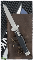 AGA Campolin ZERO Black T6 Handle Silver Tanto Blade Polished (Tumbled)