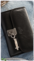 A.G.A. Campolin Knife Black Leather 7 Knife Pouch