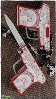 "AGA Campolin Pistol Stiletto Custom Red ""Kill or be Killed"""