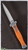 AGA Campolin ZERO Orange G10 Handle Satin Silver Dagger Blade