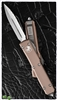 Microtech Ultratech D/E 122-6TA Satin Full Serrated Tan Handle
