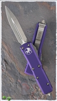 Microtech UTX-85 D/E 232-4PU Satin Blade Purple Handle