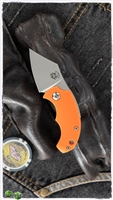 "Fox Knives Dragotac ""Piemontes"" Slim Friction Folder, Orange FRN, 1.6"" Satin N690"
