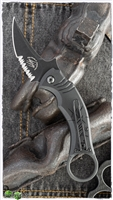 Bastinelli Creations Mako Folder, Serrated, Black Stonewashed N690