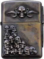 Bastinelli Creations Skulls Zippo Lighter Double