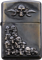 Bastinelli Creations Skulls Zippo Lighter Single