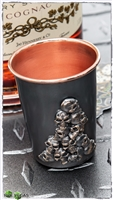 Bastinelli Creations Shot Glass Cup Bronze Skull Engraved Single Sided