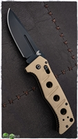 Benchmade Adamas 2750 Auto Black Plain Blade Tan Scales