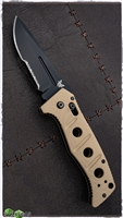 Benchmade Adamas 2750 Auto Black Serrated Blade Tan Scales