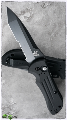 Benchmade Auto Stryker 9101SBK Serrated Black Blade